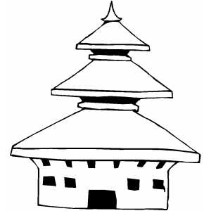 Temple Coloring Sheet