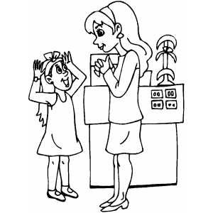 Girl Shopping Coloring Sheet