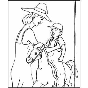 Pony Ride Machine Coloring Sheet
