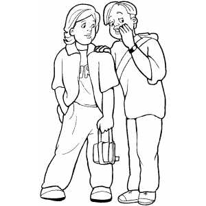 Whispering Boys Coloring Sheet