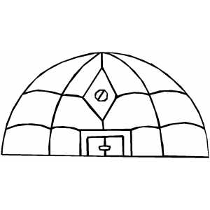 Alien Round Building Coloring Sheet
