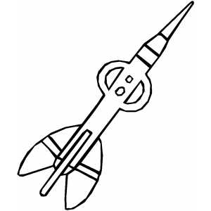 Fancy Dart Coloring Sheet