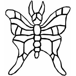 Flying Bug Coloring Sheet