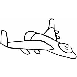 Futuristic Flying Plane Coloring Sheet