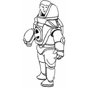 Man In Space Suit Coloring Sheet