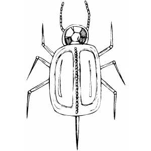 Mechanical Bug Coloring Sheet