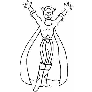 Mutant Superhero In Coat Coloring Sheet