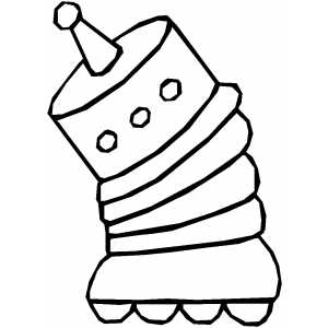 Roller Robot Coloring Sheet