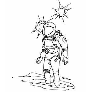 Spaceman Stuck Coloring Sheet