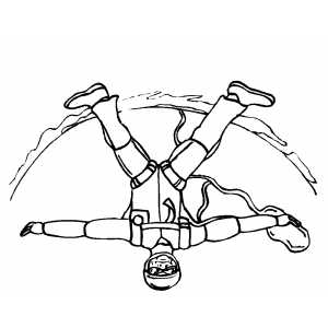 Man Sky Diving Coloring Sheet