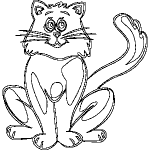 Cat 1 Coloring Sheet