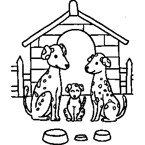 Dalmatian Dogs Coloring Sheet