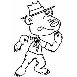 Scout Bear Coloring Sheet