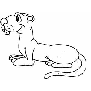 Smiling Groundhog Coloring Sheet