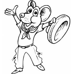 Spanish Mouse Macho Coloring Sheet