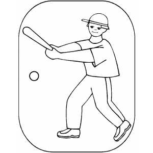 Batter Coloring Sheet