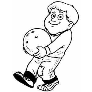 Bowler With Heavy Ball Coloring Sheet