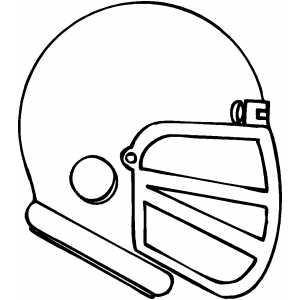 Football Helmet Coloring Sheet