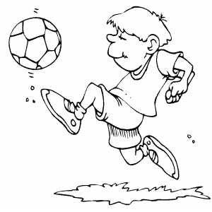 Happy Soccer Player Coloring Sheet