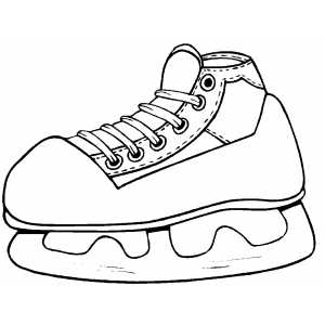 Ice Hockey Skate Coloring Sheet