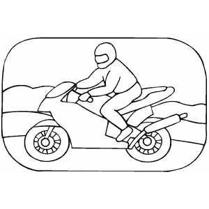 sportbike coloring pages | Motorcycle Racing Coloring Sheet