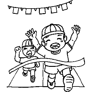 Race Winner Coloring Sheet