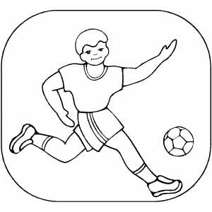 Soccer Player Coloring Sheet