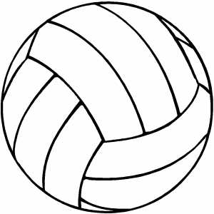 Volleyball Coloring Sheet