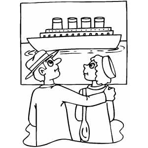 American History Titanic Coloring Sheet