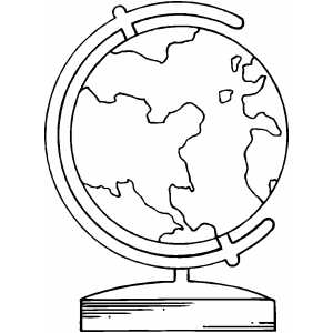 Earth Globe Coloring Sheet