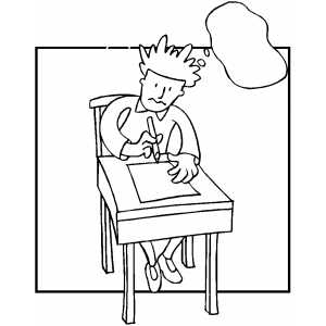 Guy Solving Mathematics Problems Coloring Sheet
